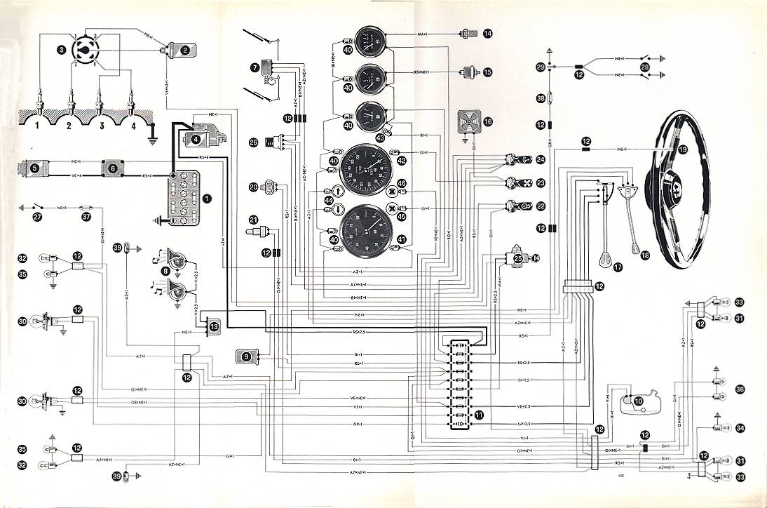 AlfaRomeo Spider1300 06 Jr alfa romeo wiring diagram alfa romeo blueprints \u2022 free wiring spider wire harness at eliteediting.co